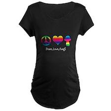 Peace Love Fungi (Light) Maternity T-Shirt