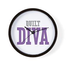 Quilt DIVA Wall Clock