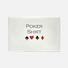 Poker Shirt Rectangle Magnet
