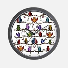 many cute Owls Wall Clock