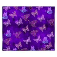Purple Butterflies King Duvet