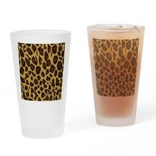 Leopard Print Drinking Glass