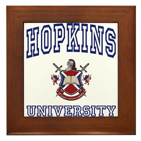 HOPKINS University Framed Tile