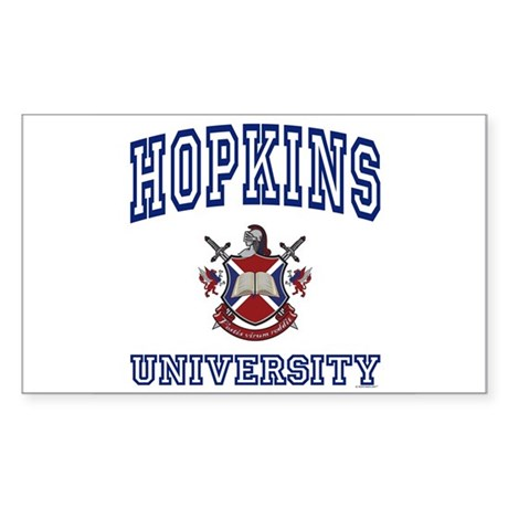 HOPKINS University Rectangle Sticker