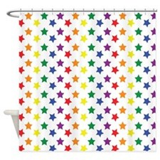 Rainbow Stars Shower Curtain