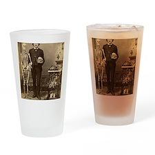 Edgar Allan Poe With Skeleton Victo Drinking Glass