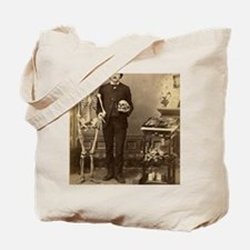 Edgar Allan Poe With Skeleton Victorian O Tote Bag