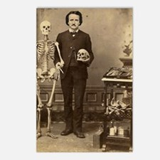 Edgar Allan Poe With Skel Postcards (Package of 8)