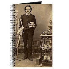 Edgar Allan Poe With Skeleton Victorian Od Journal