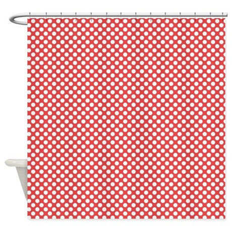 Red And White Polka Dot Shower Curtain 28 Images Red Polka Dot Curtain Material Curtains