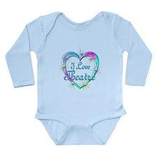 I Love Theatre Long Sleeve Infant Bodysuit