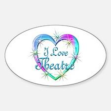 I Love Theatre Sticker (Oval)
