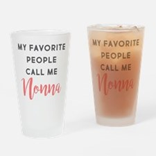 My Favorite People Call Me Nonna Drinking Glass