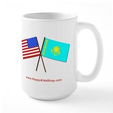 Mug- US and Kazakhstan flags