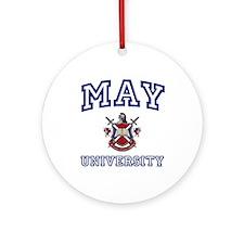 MAY University Ornament (Round)