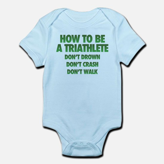 How To Be A Triathlete Baby Light Bodysuit