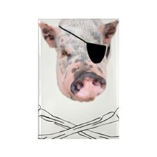Pirate Pig  Rectangle Magnet