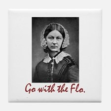 Go with Florence Nightingale! Tile Coaster