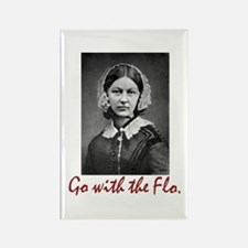 Go with Florence Nightingale! Rectangle Magnet