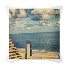 With a View Woven Throw Pillow