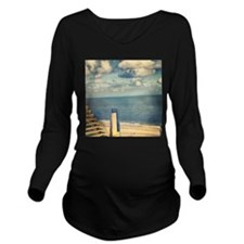 With a View Long Sleeve Maternity T-Shirt