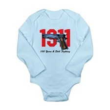 1911 Pistol Long Sleeve Infant Bodysuit