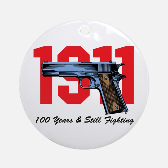 1911 Pistol Ornament (Round)