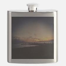Sun Goes Down on Seaside Flask