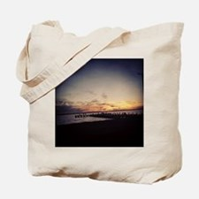 Sun Goes Down on Seaside Tote Bag