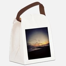 Sun Goes Down on Seaside Canvas Lunch Bag