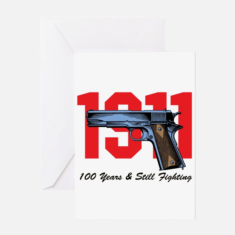 1911 Pistol Greeting Cards