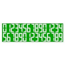 Personal Best Number Set Bumper Bumper Sticker