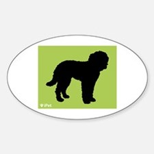 Goldendoodle iPet Oval Decal