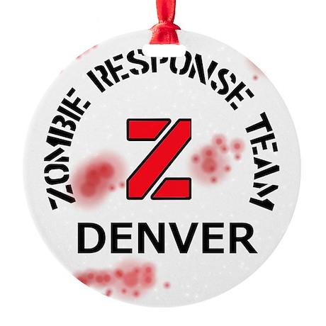 Zombie Response Team Denver Round Ornament