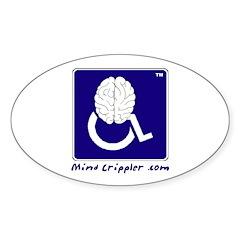 Mind Crippler Oval Decal