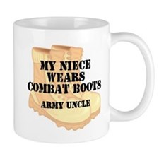 Army Uncle Niece Desert Combat Boots Mugs