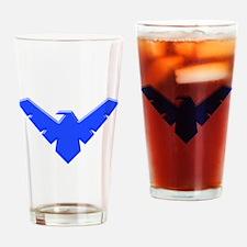 Cool Bird Logo Drinking Glass