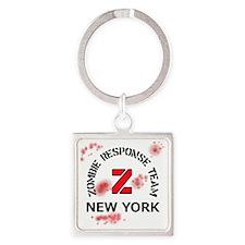 Zombie Response Team New York Square Keychain
