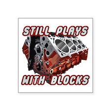 "Engine Block Square Sticker 3"" x 3"""