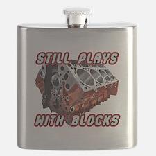 Engine Block Flask