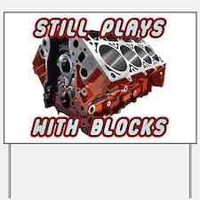 Engine Block Yard Sign
