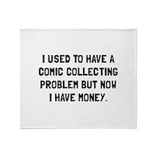 Money Comic Collecting Problem Throw Blanket