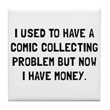 Money Comic Collecting Problem Tile Coaster
