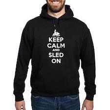 Keep Calm Sled On Hoodie