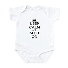 Keep Calm Sled On Infant Bodysuit