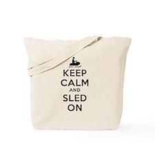 Keep Calm Sled On Tote Bag