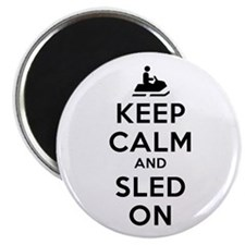 "Keep Calm Sled On 2.25"" Magnet (10 pack)"
