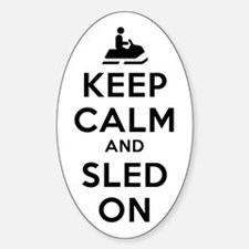 Keep Calm Sled On Decal