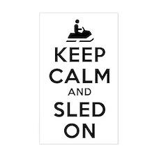 Keep Calm Sled On Decal