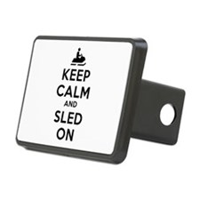 Keep Calm Sled On Hitch Cover